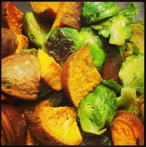 Brussel Sprouts and Yam